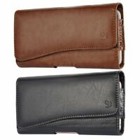 Horizontal Leather Carrying Pouch Case Cover With Belt Clip Holster Cell Phones