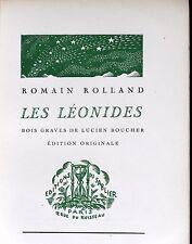 Les Léonides - Romain Rolland, bois gravés de Lucien Boucher, éd. originale