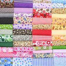 50X Assorted Cut Charm Fat Quarters Cotton Fabric Quilt Sewing Bundle Square DIY