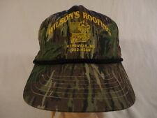 Men's Wilson's Roofing Asheville, NC Camo camouflage Snapback Cap Hat