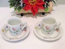 Bia Cordon Bleu Demitasse Cups & Saucers Nicole Floral Espresso Coffee