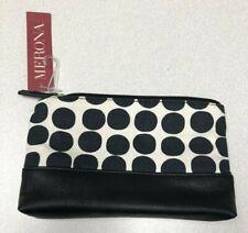 Merona White w/Black Polka Dots Zip Up Bag / Make-up pouch