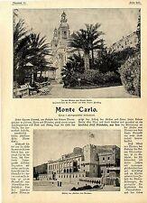 Monte Carlo ( Fürstenschloß Garten Kasino )  Historical Memorabilia c.1900