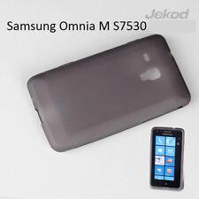 Jekod black TPU gel silic case cover+screen protector for Samsung Omnia M S7530