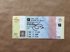 Barcelona Olympics Football 1992 Ticket Signed Luis Enrique