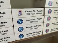 1980,1981,1984 Topps and 2019 Heritage Kansas City Royals Team Sets; Custom Box