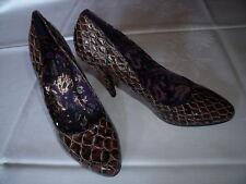 Damen Schuhe Pumps High Heels elegant Gr. 38 UK 5  braun-schwarz NEU ungetragen