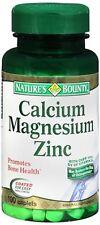 Nature's Bounty Calcium Magnesium Zinc Caplets 100 Caplets (Pack of 9)
