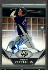 2011 Topps #BPP60 Drew Vettleson Tampa Bay Rays Baseball Signed Autograph (H13)
