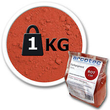 1Kg Pigmentpulver Farbe Rot Farbpigmente Trockenfarbe für Beton Zement Putz Gips