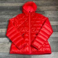 WOMENS NIKE ALLIANCE JACKET 55 HOODED LTW COAT SIZE LARGE RED 626975-660