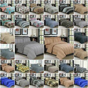 New 4pcs 100% Cotton Bedding Set Duvet/Quilt Cover Fitted Sheet & Pillow Cases