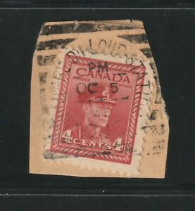 Canada RIVIERE DU LOUP STATION QUE Squared Circle  George VI 4c War 1946