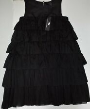 Little Marc Jacobs Cookie Silk Dress Black Girls Size 12 NWT  $297 Celebrity Kid