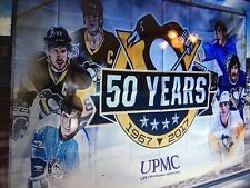 PITTSBURGH PENGUINS 50TH ANNIVERSARY BANNER