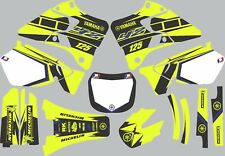 Vibrant Highlighter YAMAHA GRAPHICS  YZ 125 YZ125 1996 1997 1998 1999 2000 2001