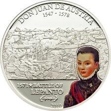 Don Juan de Austria – Battle of Lepanto 5$ Cook Island Silver Coin 2010