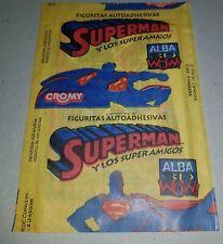 SUPERMAN & SUPERHEROS DC Comics Argentina 1994 UNOPENED stickers PACK