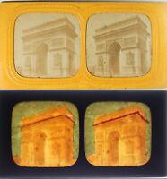 Francia Parigi Campi Elysées Arco Di Triomphe, Foto - Diorama Albumina c1870