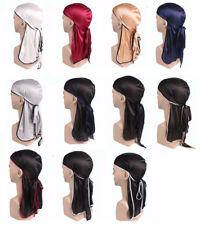Unisex Durag  do doo du rag Long Tail Headwrap Bandana Caps Men Women Headband
