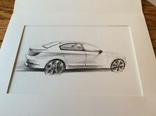 BMW 550i E60  2008 5 series Design Sketch Matted Rendering from BMW