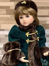Franklin Heirloom Doll Catherine Rose 15� With Coa