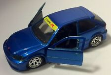Jada 1:32 JDM Tuners 1997 Honda Civic EK Type-R BLUE CAR Diecast