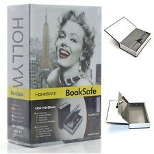 Steel Book Lock Box Safe, Hidden Secret Diversion Security Stash, Marilyn Monroe