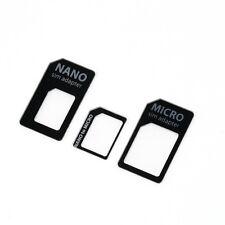 3 in 1 Nano SIM to Micro Standard SIM MICROSIM Adaptor Adapter for iPhone 5 GO