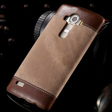 For LG G4 G3 Luxury Leather Case Denim Canvas Pattern Cover Hard Plastic Bumper