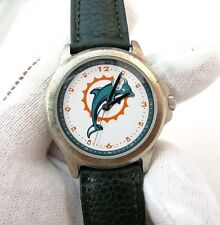 MIAMI DOLPHINS, Hi-End Pigskin Band, Rare Collectable, MENS WATCH,1843,L@@K