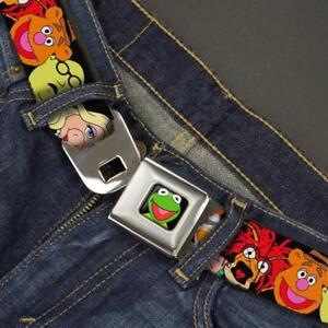 Buckle Down Seatbelt Belt - Muppets Kermit Piggy Beaker Pepe Fozzie Made in USA