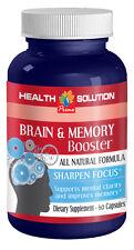 Brain Memory - Brain & Memory Booster 775mg - Increase Intelligence Pills 1B