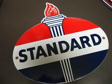 STANDARD GASOLINE Oil Gas Porcelain Advertising Sign....DIECUT SHAPE