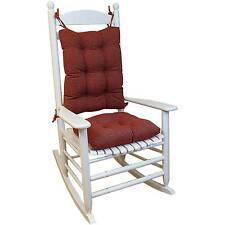 Gripper Jumbo Rocking Chair Cushions, Venus, Red