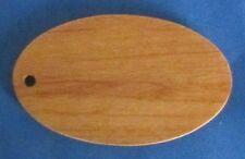 "Large Oval Alder Wooden Blanks For Engravers - Lot of 50 - 5/32"" Drilled Hole"