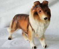 Lefton Collie Dog Figurine H2294 Vintage Porcelain