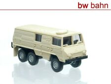 Roco miniatur modell H0 1706 Steyr Puch Pinzgauer 6x6 Kastenwagen beige Neu