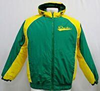 Oregon Ducks GIII Full Zip Hooded Winter Jacket NCAA Green Men's Size M L 2XL