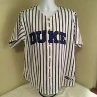 Majestic Duke Blue Devils Baseball Jersey XL Sewn Stitched USA Made Free Ship!