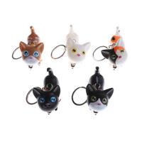 Lovely Cat Kitten Keychain Phone Handbag Keyring Bell Toy Lover Key Chains Ri Hs