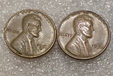 Lot of 2 Lincoln Wheat Cent Errors 1951-D & 1953/3 -see pics, Combined shipping