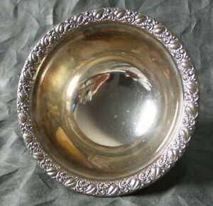 "Beautiful Webster Co. Sterling Silver Nut / Bon Bon / Candy Bowl - 5"""
