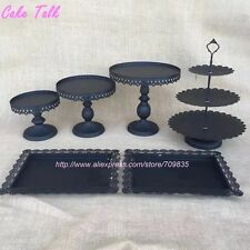 Elegant 6 Piece Cake Stand With Trays For Parties In Gold, Black, Silver, White
