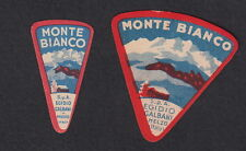 Ancienne petite étiquette fromage cheese label Italie BN11345 Galbani Mont Blanc