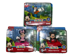 New Disney Mickey Mouse - Set of 3 Cars and Figures - Mickey, Minnie and Goofy!