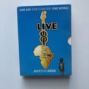 Live 8 DVD July 5 2005. 4 Disc Set. Paul McCartney, Coldplay, Snoop Dogg,Madonna