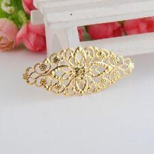 50 Gold Tone Filigree Flower Wraps Connectors Metal Crafts Gift Decoration DIY F