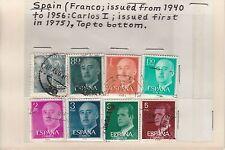 España 1940-1975 General Franco Y Carlos 1st definitives
