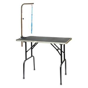 Go Pet Club Dog Grooming Table with Arm 30 in., Black
